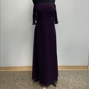 SAMPLE Bill Levkoff plum formal dress. Size 14.